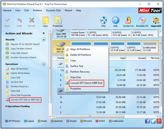 Fix The Selected GPT Formatted Disk Contains a Partition