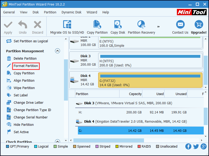 MiniTool Partition Wizard: The Best Free SanDisk Format Tool